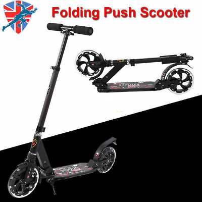Folding Scooter Bike Big Wheel Scooter Suspension Adult Child Commuter W/ Grips