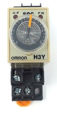 OMRON H3Y-2 TIMER RELAY with base USED