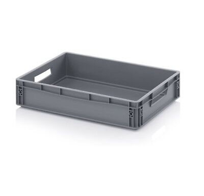 Euro Containers 60x40x12 24l (811.5oz) Stacking Storage Box Eurobox Stackable