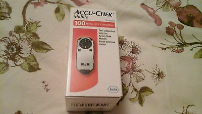 accu check mobile test cassettes 100 tests in 2 cassettes