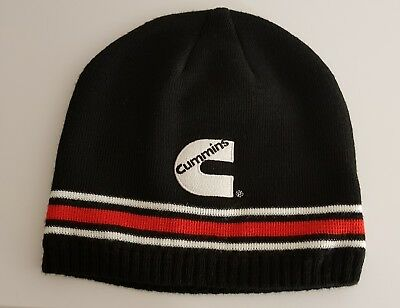1e5eb70b791 CUMMINS Engine Striped BEANIE Knit Cap Hat Dodge Ram Truck Diesel Winter  Gear