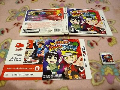 Naruto Powerful Shippuden 3DS RARE MISPRINT for Nintendo 3DS / Complete