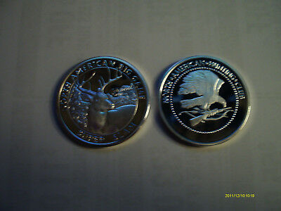 Collectible Coin whitetail deer   h2