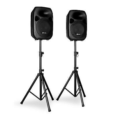 "Dj Pa Set Sono Actif Skytec Sps122 Actieve Speakerset 12"" Incl. Stands Eq 700W"