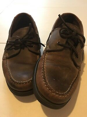 b374fc5ea52 Cole Hann Mens Leather Topsiders Boat Shoes Made Maine USA VERY Gently Used  10M
