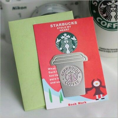 1Pcs Starbucks Metal Bookmarks Collector's Edition Bookmark For Books Mark Clip