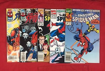 Comic Book Lot Of 5 Different The Amazing Spider-Man Issues #352,358,366,417,423