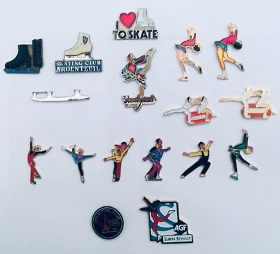 Lot 17 Pin's SKATING PATINAGE Vandystadt Bouygues BTP AGF Bonaly