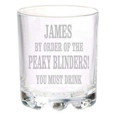 Personalised Engraved Glass Birthday Gifts Any Name Peaky Blinders Tommy Shelby