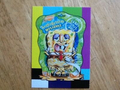 2018 Wacky Packages Go To Movies Small Screen Sticker Spongebob Squarepants 10