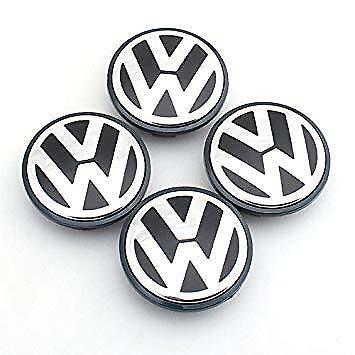 1 x VOLKSWAGEN VW WHEEL CENTRE 4 CAPS CHROME 65mm PASSAT POLO GOLF BORA JETTA