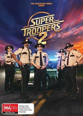 Super Troopers 2 Dvd, New & Sealed, 2018 Release, Region 4, Free Post
