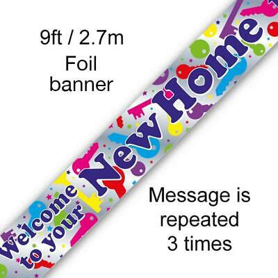 9ft-2.7m Banner Welcome to Your New Home