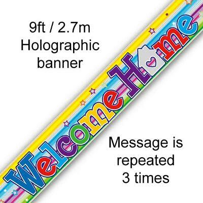9ft-2.7m Banner Welcome Home Swirl