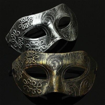 Antique Silver Gold Venetian Mardi Gras Masquerade Party Ball Burnished Mask