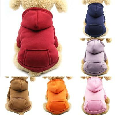 Dogs Puppy Pet Clothes Large Dog Winter Warm Hoodie Coat Jacket Clothing Sweater