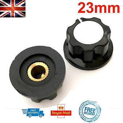 23mm Potentiometer Knob Volume Amp Dial RV16 6mm Hole for Shaft Radio Tuner DIY