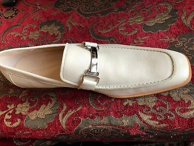 e10948e3e01 Calvin Klein Men s Scotch Grain Leather Loafers - Off White 13 (brand new)