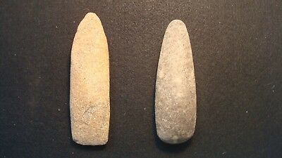 "Lot of (2) Native American Indian 5"" Stone Axe - Tomohawk... Hard to Find  RARE"