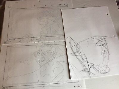 Anime Layout sketches not cel of Lavi from D. Gray-Man