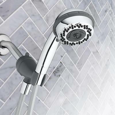 CHROME SHOWER HEAD Hand Held Rain Color Changing LED Lights Bathroom