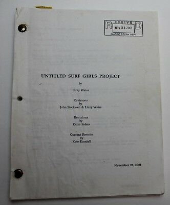 Blue Crush / Lizzy Weiss 2001 Movie Script Screenplay, Surf girls competition