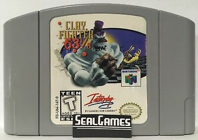 Clay Fighter 63 1/3 (Nintendo 64, N64) Authentic Oem Canadian Seller **TESTED**