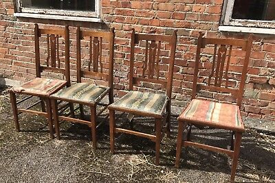 Arts and Crafts dining chairs