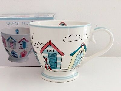 Beach Hut Mug Coffee Tea Nautical Fine China Sandy Bay Design & Gift Box 93304