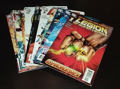 Legion of Super-Heroes #1-16 Complete Series DC Lot  VF/NM  2010