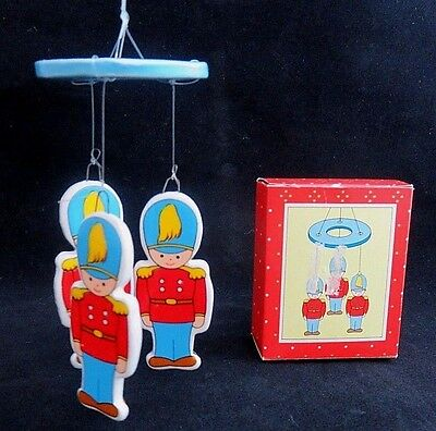 Toy Soldier Mobile Russ Berrie Christmas Vintage Holiday Ornament