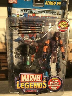 Toy Biz Marvel Legends Hawkeye Series Vii Action Figure New