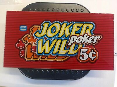 Joker Wild Poker Slot Machine Glass