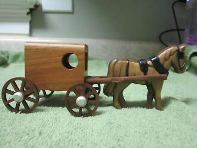 Small Wooden Amish Wagon, M&m Toys, 1994, Lancaster, Pa, Nice Item!