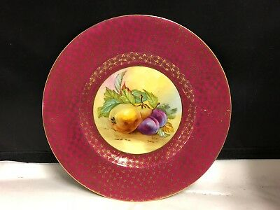 Lovely Minton Hand Painted With Fruit And Signed  - Cabinet Plate