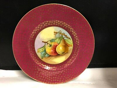 Lovely Minton Hand Painted With Fruit And Signed #2  - Cabinet Plate