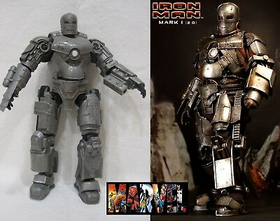 Iron Man Marvel Legends Action Figure Movie Mark 1, MK I retro 2008 HASBRO 16 CM