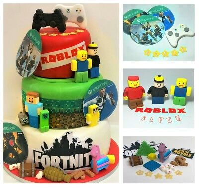 Super Roblox Cake Toppers For Man Edible Personalised Decoration 8 99 Birthday Cards Printable Giouspongecafe Filternl
