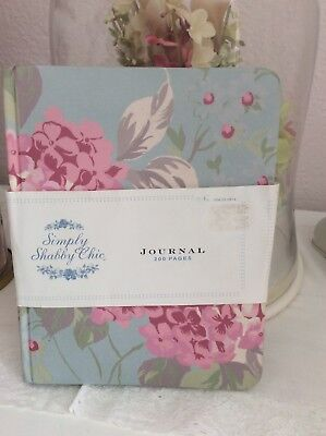 Simply Shabby Chic Blue Hydrangea Journal Diary Notebook Rachal Ashwell Vintage