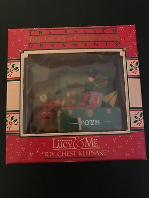 Lucy & Me Toy Chest Keepsake Ornament