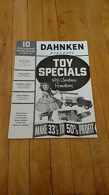 Vintage 1955 Dahnken Toy & Gift Catalog Salt Lake City Utah Rare!!!