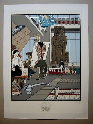 DANIEL TORRES SERIGRAPHIE ARCHIVES INTERNATIONALES 55x75 N&S 1985 COMME NEUF