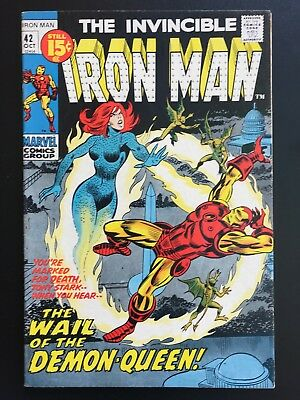 Vintage Marvel Comics The Invincible Iron Man Issue 42 1971