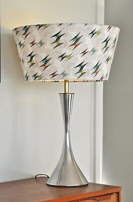 Atomic Retro Eames Metal Mid Century Danish 'FLUDE' Lamp with new bespoke shade