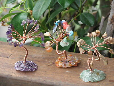 3 x Tree of Life Crystal Tree's 6 to collect - Amethyst - Mixed - Jasper