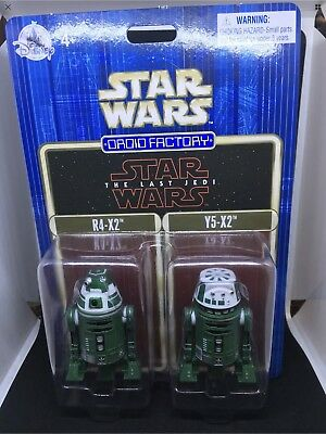 Disney Parks Star Wars Force Friday Last Jedi Droid Factory Set R4-X2 Y5-X2 New