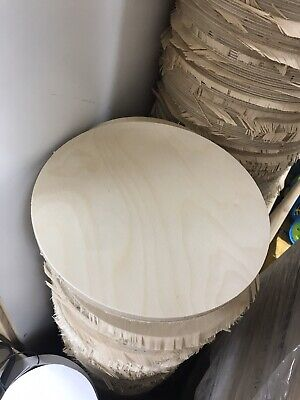 Craft Wood Round Birch Plywood Clock Base