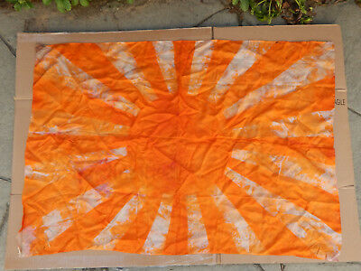 WWII IMPERIAL JAPANESE RISING SUN ORIGINAL SILK F L A G     24 ½ x 35 ½ inches
