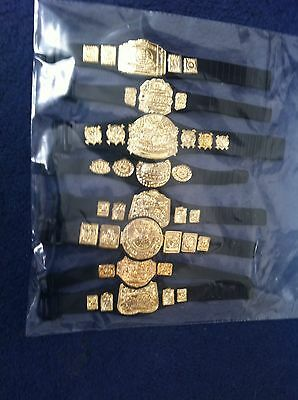 WWE Wrestling Figure  Belts For Figures x 8 Accessories Joblot Bundle