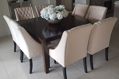 Like New Timber Square Dining Table 150cm 8 Seater 400 00